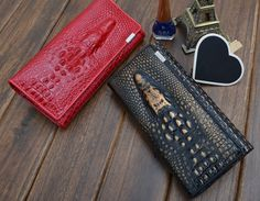 The Crocodile Leather Wallet   Long Crocodile Patent Genuine Leather Bag Purse Clutch for Women Free Shipping