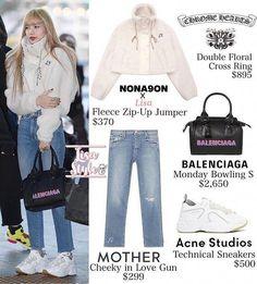 Blackpink Fashion, Kpop Fashion Outfits, Korean Outfits, Korean Fashion, Womens Fashion, Pink Outfits, Vintage Outfits, Cute Outfits, Lisa