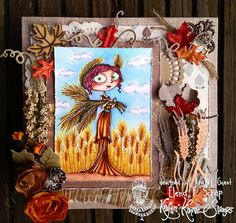 Kraftin Kimmie´s DEMETER Copic coloring background Month guest designer card