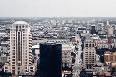 View from the Gateway Arch. #photo #city #stl #stlouis #skyline #canon