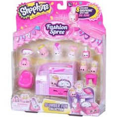 The Shopkins Fashion Spree Season 5 Slumber Fun Collection Pack Features:<br><ul><li>Get ready to glam up! It's time for a Fashion Spree! Lol Dolls, Barbie Dolls, Barbie Van, Shopkins Fashion Spree, Toys For Girls, Kids Toys, Shopkins Figures, Shopkins Happy Places, Date Energy Bars