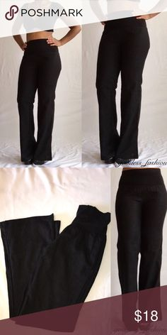 NWOT Black Hight Waist Pants Black Hight waist pant with stretch material Brand New With out tags Forever 21 Other
