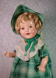 """21"""" All Original Shirley Temple Look-A-Like from DEE'S DOLLS found @ Doll Shops United http://www.dollshopsunited.com/stores/deesdolls/items/1281849/21-All-Original-Shirley-Temple-Look-Like #dollshopsunited"""