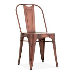 Vintage Copper Shoreditch Metal Side Chair | Restaurant Dining Furniture