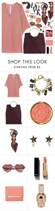 """dark romance (TOP SET 15th JULY)"" by valentino-lover ❤ liked on Polyvore featuring Alice + Olivia, Chanel, Kurt Geiger, Milani, Steve Madden, Polaroid, Wildfox, Apt. 9 and Hot Topic"