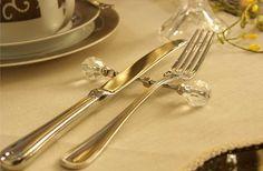 Descanso de Talheres Cristal #mesa #talheres