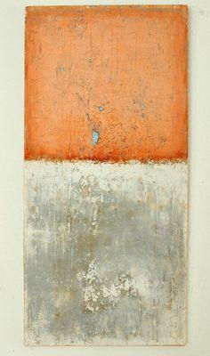 "Saatchi Online Artist: CHRISTIAN HETZEL; Mixed Media, 2013, Painting ""orange grey painting"""
