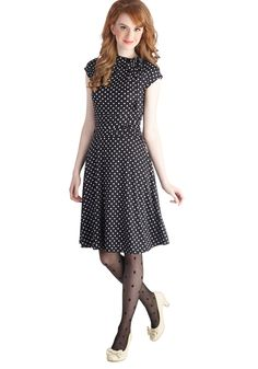 Dance Floor Date Dress in Dots. Jump into this black, dotted frock and meet your darling on the dance floor! #black #modcloth