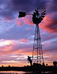 Wind Mill with beautiful skies. Country Life, Country Girls, Country Roads, Country Living, Farm Windmill, Blowin' In The Wind, Old Windmills, Into The West, Farms Living