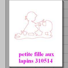 fichier sst ** petite filles aux lapins ** pour silhouette cameo - scrapbooking carterie silhouette cameo tuto astuce scrap image tube numér...