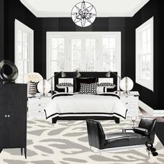 A Study in Black & White by Dee Thelen Interiors