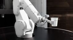Modern day robot baristas look futuristic and possess new skills (like remembering how YOU like YOUR coffee) but they are not the first robots to serve caffeinated beverages.  Coffee was first served by vending machine robots in the 1940s!