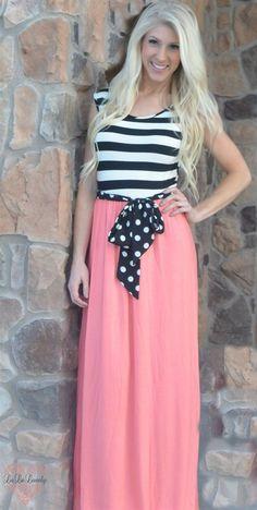 Must Have Polka Dot Maxi Dress {Jane Deals}