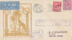 Sent to Kenya Imperial Airways 1st Flight Issue 1931