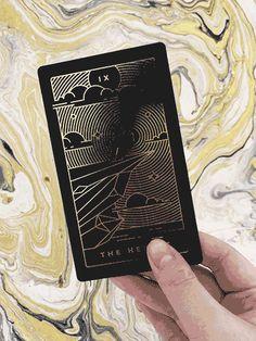 So cool looking! Golden Thread Tarot Deck: A Modern Minimal Gold Foil Tarot Card Set