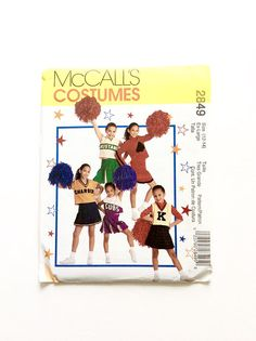 McCall's 2849 Cheerleader Costume Girls' Costume Pattern, I have 3 patterns available at Donna Designed