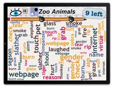 Word Mess: Find 9 Zoo Animals