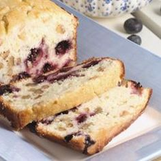 Lemon Blueberry Bread - My changes: 2 full eggs (no extra whites) 1 cup full fat sour cream (plain) instead of yogurt 1 tbs lemon essence And I added 0.25 cup (approx) milk to thin it out. I doubled the sugar per other reviewers. I tore my raspberries in half to get more of that throughout   I made it into mini loaves and they baked for about 40 mins. Once cooled I added a glaze.