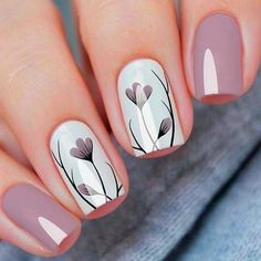 130 cute spring nail art designs to spruce up your next mani page 35 Cute Spring Nails, Spring Nail Colors, Spring Nail Art, Winter Nail Art, Autumn Nails, Winter Nails, Spring Nail Trends, Nail Designs Spring, Nail Art Designs