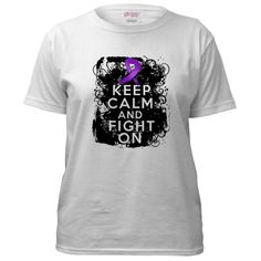 Cystic Fibrosis Keep Calm Fight On Women's T-Shirt