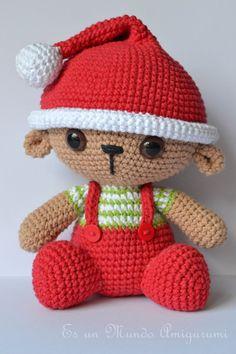 Christmas Teddy Amigurumi Pattern от EsunMundoAmigurumi на Etsy