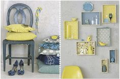 Blue greys and yellow -- lovely!