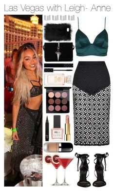 """Las Vegas with Leigh- Anne"" by xhoneymoonavenuex ❤ liked on Polyvore featuring Rare London, Topshop, Schutz, Maison Margiela, Cesare Paciotti, Gucci, Chanel, MAC Cosmetics, Marc Jacobs and ncLA"