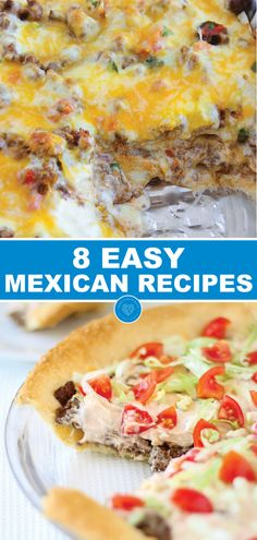8 Easy Mexican recipes - The ingredients are EASY to find the ingredients are simple to work with and each recipe is DELICIOUS! For all of the parents pretending to be teachers out there grab a margarita look forward to one of these Easy Mexican Recipes One Pan Dinner Recipes, Mexican Dinner Recipes, Mexican Dishes, Mexican Meals, Mexican Desserts, Mexican Cooking, Brunch Recipes, Crunchwrap Recipe, Vegan Recipes