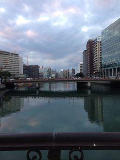 Fukuoka River, approaching New Year's Eve.