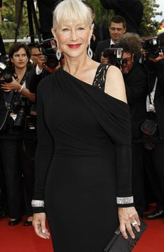 Helen Mirren holds her sleeves up with impressive diamonds at Cannes.
