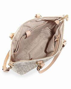09b0250bf8fdd Michael Kors Jet Set Logo Multifunktions-Tote Vanille Logo Pvc 0   womensbags jewellery