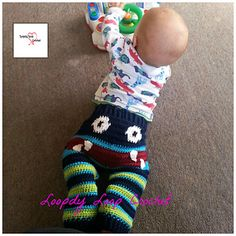 These adorable crochet Monster Pants can be made for your wee boy or girl and not only do they keep them warm but look Oh so CUTE on. Pattern is available in 4 different sizes.
