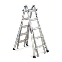 Werner MT22 22' 300 lb Telescoping Multi Ladder, Multicolor