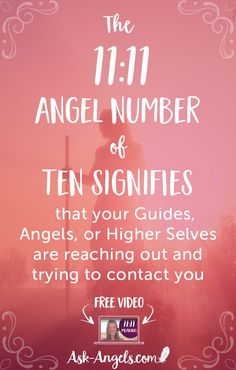 The 11:11 angel number often signifies that your Guides, Angels, or Higher Selves are reaching out and trying to contact you