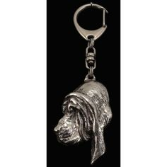 Keyring covered with thin layer of silver