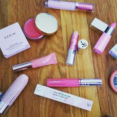 I play with #makeup like my son #plays with #thomasthetrain & #matchboxcars :) #Soothing yourself with #playing is healthy at #anyage. #parallelplay #personal #wisdom #pinklips #pinklove #pinklippy #aerinlauder #aerin #roselipbalm #jelly #clinique #clarins #soapandglory #itcosmetics #lipglosses #bblogger #makeupaddict  #cosmetichaulic #makeupaddiction #coolpink #loveyourlips