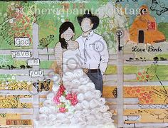 Custom Mixed Media of a wedding or other special occasion.