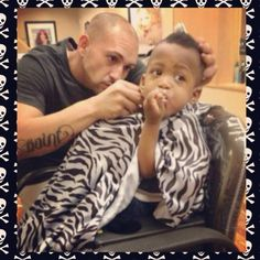 Caught in the act! Lol fauxhawk, kidcut