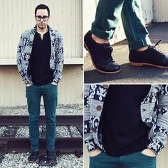 NEXT STOP PLEASE (by Reinaldo Irizarry) - H Henley Shirt, Obey Cardigan, Zara Jeans, Royal Elastics Shoes, Tom Ford Glasses