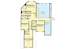 4-Bed House Plan With Angled Back Porch And Laundry On Both Floors - 24376TW | Architectural Designs - House Plans
