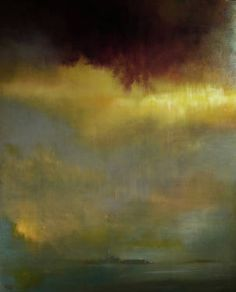 """Raincloud Over Venice,"" landscape painting by artist Maurice Sapiro (USA) available at Saatchi Art #SaatchiArt http://www.saatchiart.com/paintings/landscape"