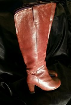 John Fluevog Hey Minstrel! Brown Leather Knee Boots Size 6 Women in Clothing, Shoes & Accessories, Women's Shoes, Boots | eBay