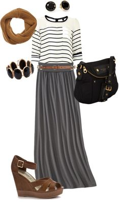Maxi Skirt For Fall | Grey Maxi Skirt | Moto Jacket | Black Ankle ...