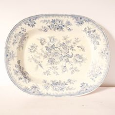 Blue  White platter transferware Blue Willow 14.5 by ChicFrangine