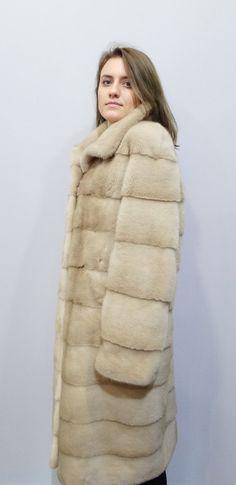 Long Fur CoatReal Mink FurFur CoatReal Fur by FilimegasFurs Mink Colour, Long Fur Coat, Winter Fur Coats, Beige Coat, Mink Fur, Model, Leather, Jackets, Fashion
