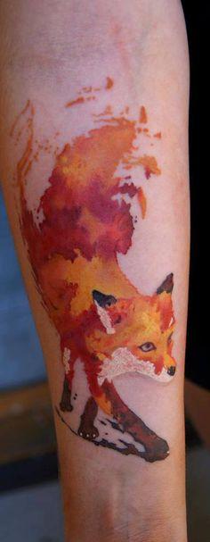 fox tattoo @ Dark Art