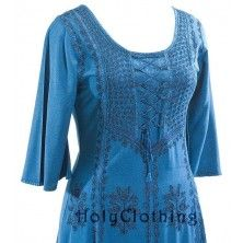 Sonya Bohemian Embroidered Bustier Peasant Corset Dress Gown