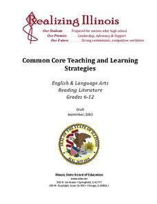 Reading Literature: 11-12th Grade ELA Common Core Collection