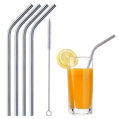 Modish Stainless Steel Reusable SS 304 Food Grade Beverage Drinking Straws with Straw Cleaning Brush set of 5 – ModishOmbre - The Luxury You Desire Stainless Steel Straws, Stainless Steel Metal, Car Led Lights, Clutches For Women, Cookie Cutter Set, Brush Cleaner, Brush Set, Food Grade, Biodegradable Products