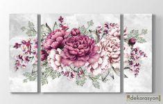Çiçek Desenli Ahşap Tablolar